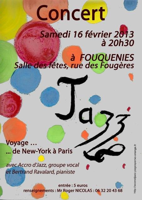 Concert Accrod'Jazz Fouquenies 16-02-2013