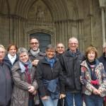 Les Accro d'Jazz devant la cathédrale de Coutance