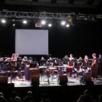 Dernière représentation d'Ombres Vives, spectacle de Microcosmos autour du cinéma muet...