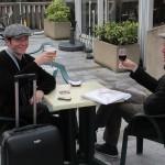 Notre pianiste Bertrand et un chanteur qu'il a aussi l'habitude d'accompagner...
