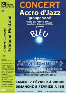 Affiche concert Accrod'Jazz 7 et 8 Février 2015