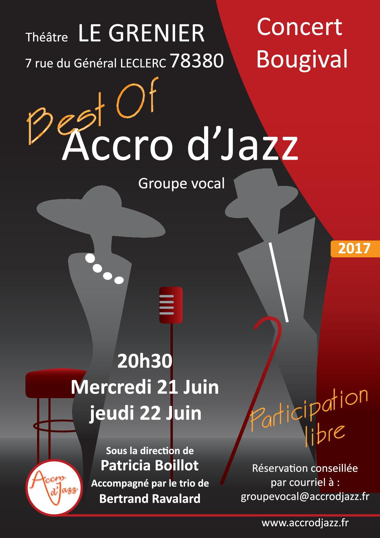 AFFICHE CONCERT ACCRODJAZZ Best-of Juin 2017